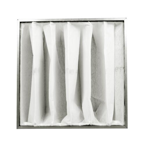 Filtre à poches avec cadre en métal pour filtration d'air haute efficacité