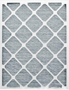 Ffiltre avec cadre en carton et média en fibre de verre pour préfiltration d'air