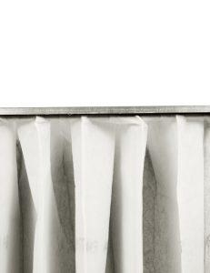 Filtreri filtre a poches avec cadre en métal pour filtration d'air haute efficacité