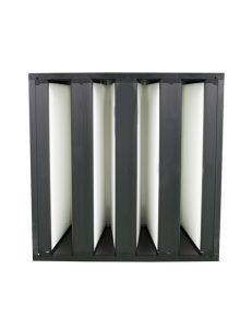 Filtre à poches rigides avec cadre en métal pour filtration d'air haute efficacité